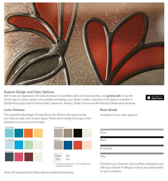 explore the options WITH INSPIRATIONS™ ART GLASS