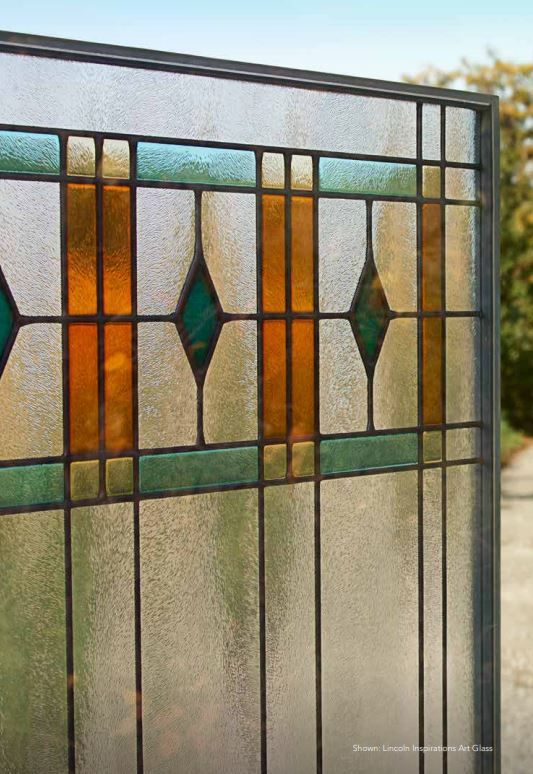 example of a window with grids, grilles and some stained glass